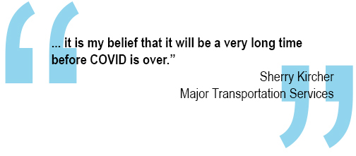 """...it is my belief that it will be a very long time before COVID is over."" Quote by Sherry Kircher"