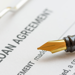 loan agreement document with pen