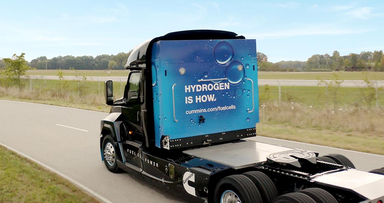 Cummins fuel cell truck