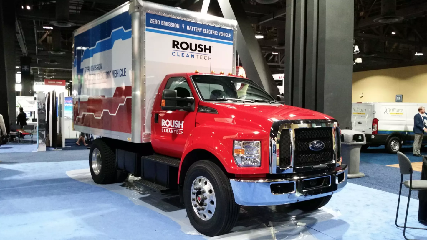 Roush CleanTech all-electric F-650 box truck