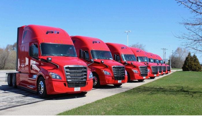 Paper Transport semi trucks