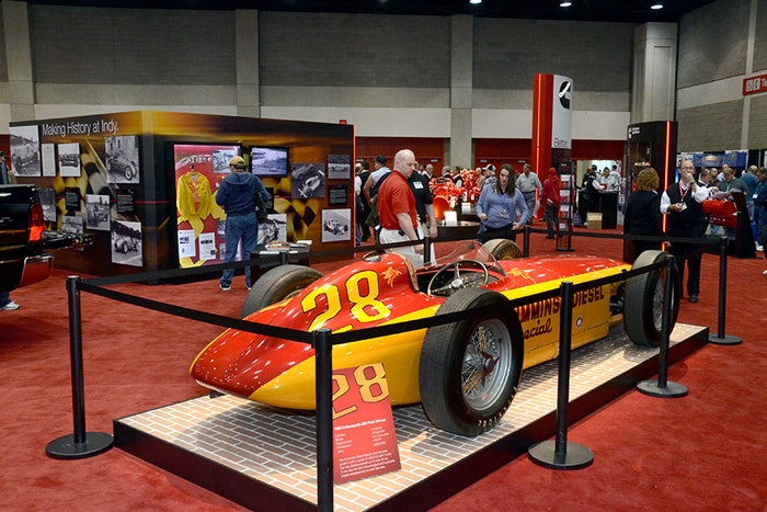 Trade shows like the Mid America Trucking Show were not only good places to look at cool displays, they were also good opportunities to engage in discussion. MATS is next scheduled to take place in March 2022.