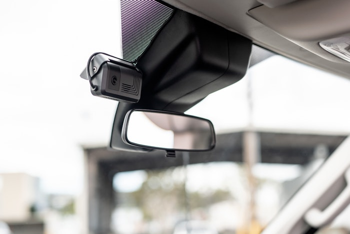 inward-facing camera mounted on rearview mirror