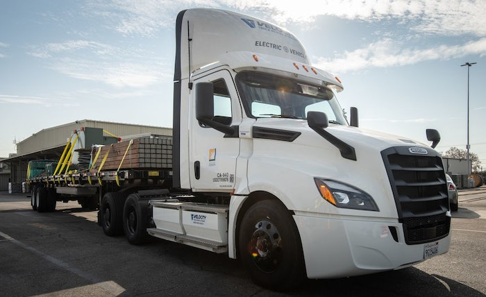 Southern California Edison is not only driven to electrify fleets in the 15-county area it serves, it's been taking steps to electrify its own fleet. In November, the largest subsidiary of Edison International, became the first utility in the nation to acquire and begin testing a Class 8 Freightliner eCascadia.