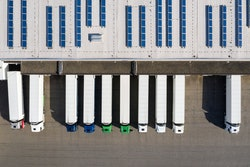 semi trailers at dock