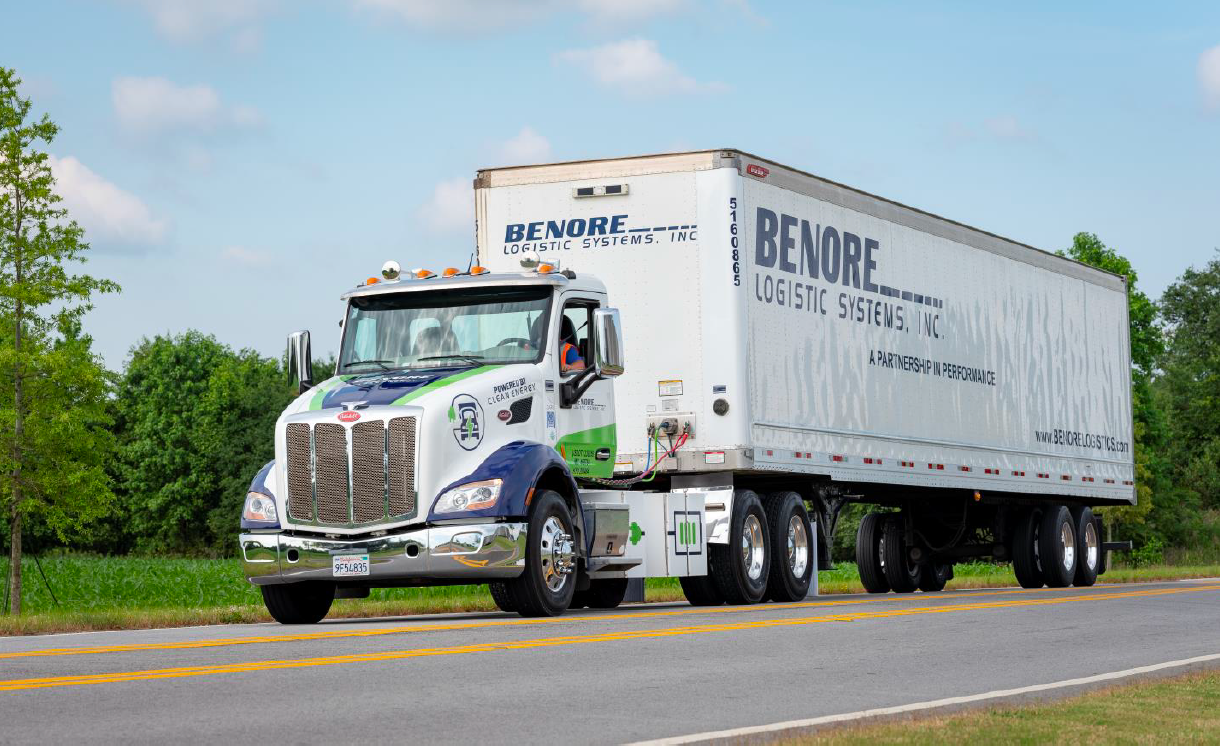 Benore recently purchased its first Peterbilt 579EV.