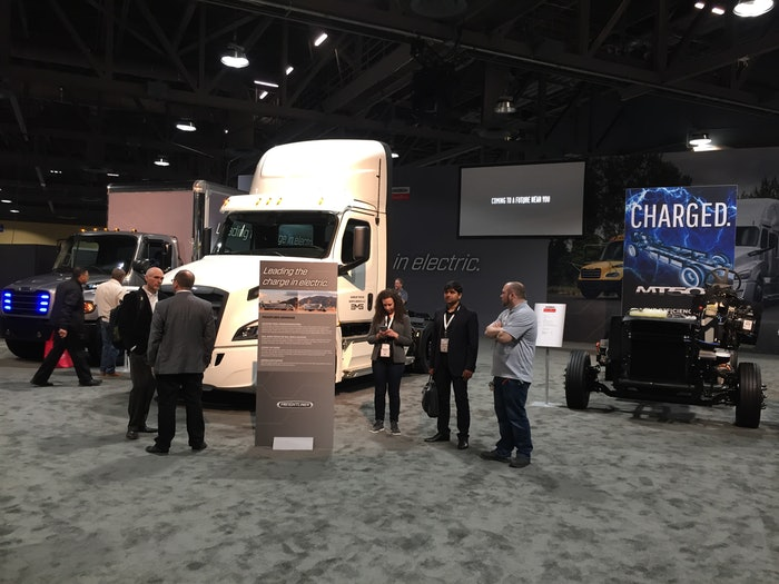 The Advanced Clean Transportation Expo, shown here in 2019, will resume this Monday in Long Beach, Calif. following last year's cancellation during the first wave of COVID. Attendees will be required to wear masks per California law. Buffets have been nixed and registration desks have been spread out to help encourage social distancing.