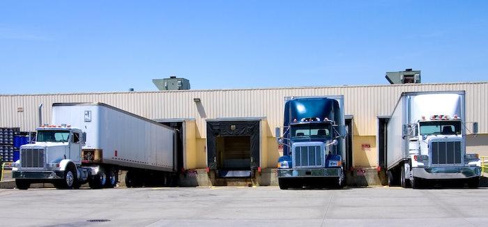 trucks at the dock