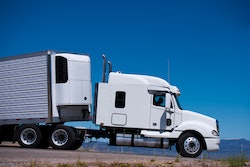 truck with reefer trailer