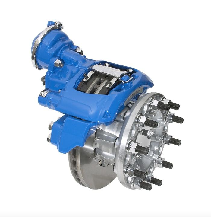 Air disc brakes, like this Bendix ADB22X, can help lure drivers looking for safer and more comfortable rigs.
