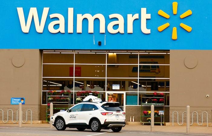 Car outside Walmart