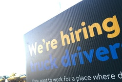 Truck drivers wanted sign