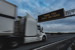 Truck driver thank you sign