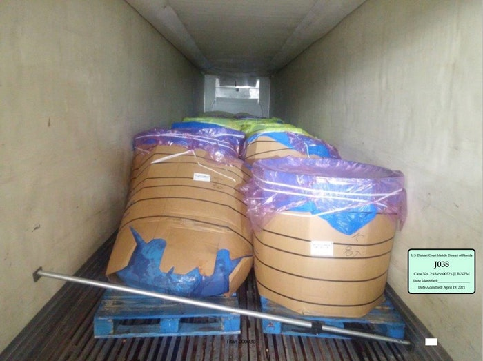 The shipper loaded this shipment of beef onto the trailer. It was rejected by the receiver and resulted in a cargo claim that a judge decided was not the carrier's fault.