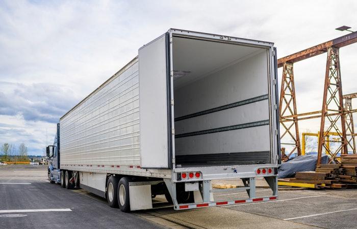 trailer with doors open