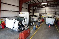 Truck in for repair