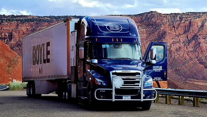 Boyle Transportation truck