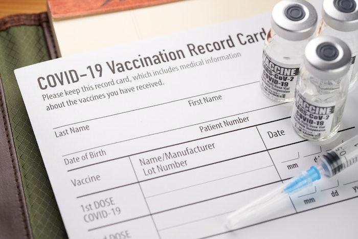 COVID vaccine record